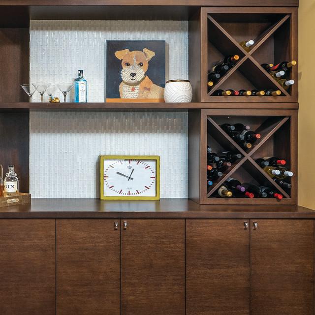 Wine Rack Cabinet Modern Kitchen Seattle By
