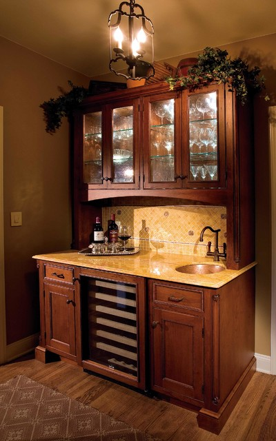Wines Playground of Custom Cabinetry traditional-kitchen
