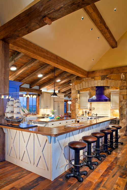 Great Ideas For Lighting Kitchens With Sloped Ceilings - Kitchen lighting ideas for vaulted ceiling