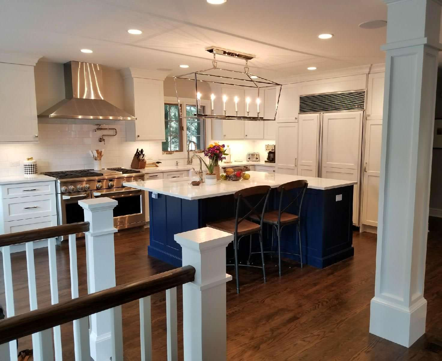 Winnetka Kitchen with Blue Island