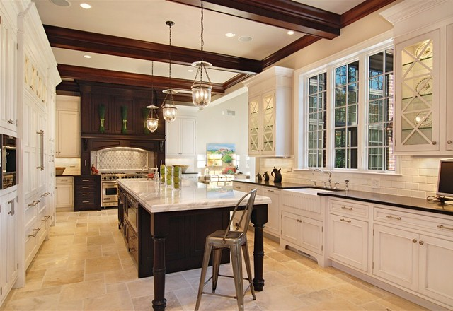 Winnetka Luxury Custom Home Traditional Kitchen