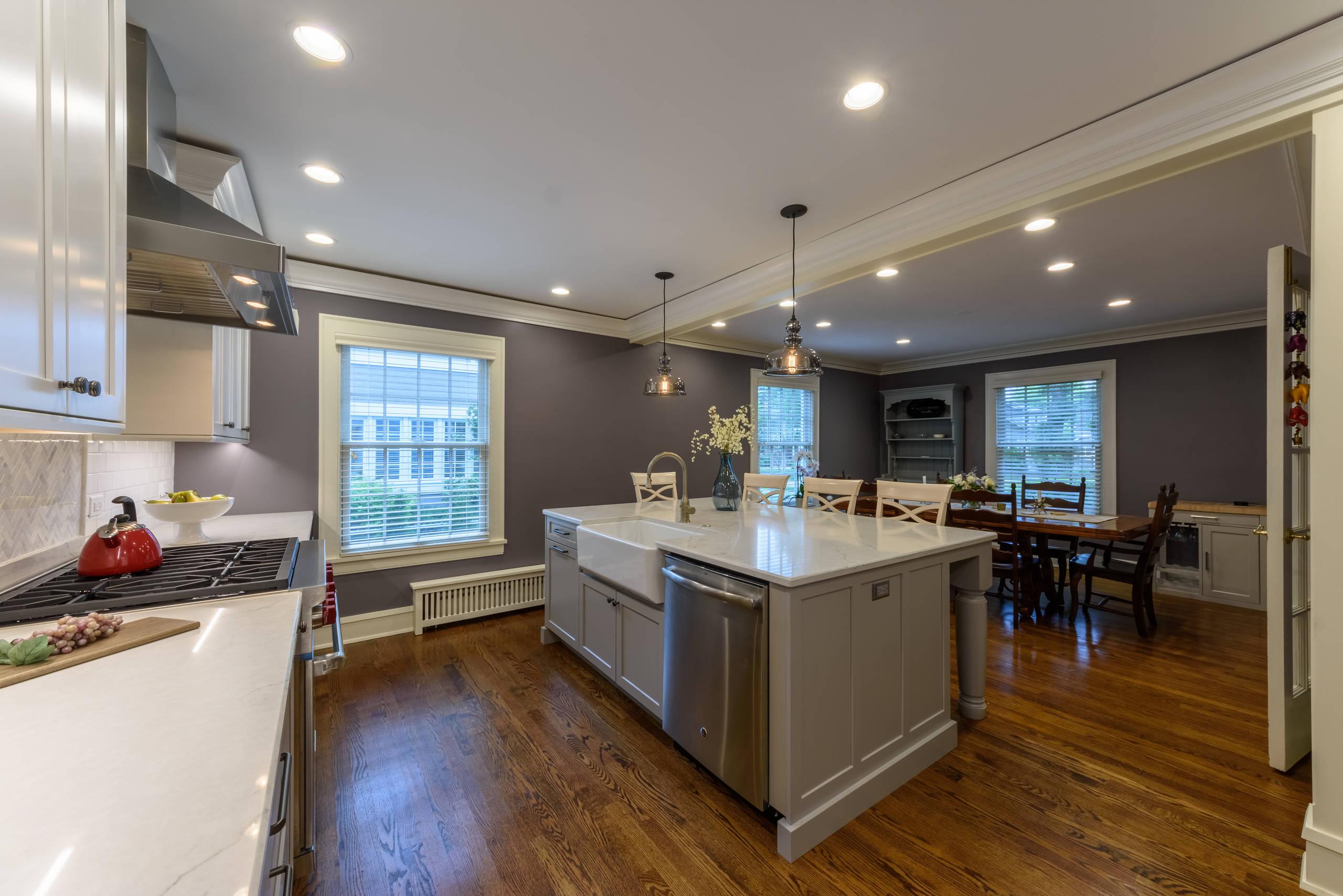 Winnetka Two Toned Gray & White Kitchen