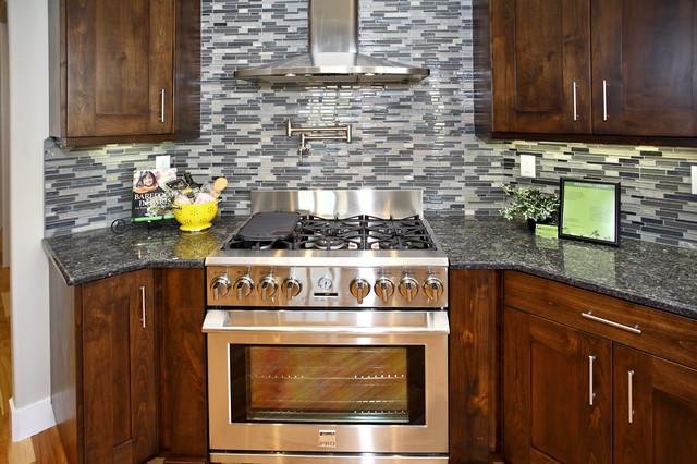 Winter Camp Custom Home contemporary-kitchen