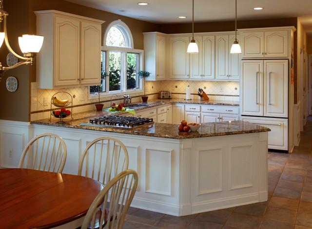 Winter White Kitchen - Traditional - Kitchen - other metro - by Kitchen Magic
