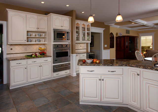 Winter white kitchen traditional kitchen other metro by kitchen magic for Cathedral style kitchen cabinets