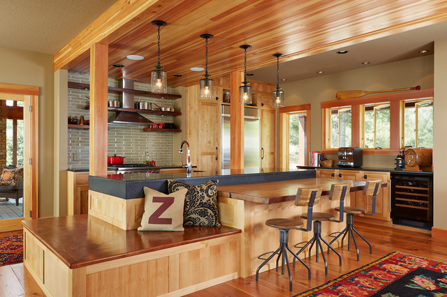 Wisconsin Lake Home Beach Style Kitchen Minneapolis By Fiddlehead Design Group Llc