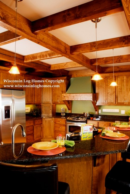 Wisconsin Log Homes Inc. traditional-kitchen