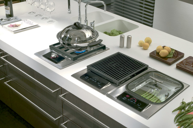 Wolf 15 Electric Steamer Module Stainless Steel Is15scontemporary Kitchen Los Angeles