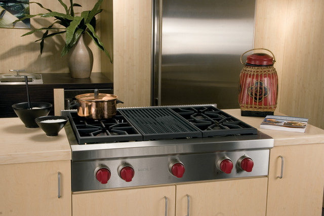 Pro Style Cooktops ~ Wolf quot pro style gas rangetop stainless steel natural