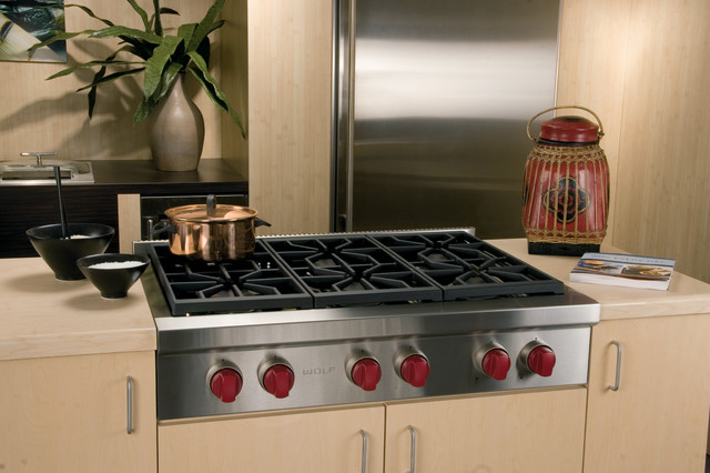 Wolf 36 Pro Style Gas Rangetop Stainless Steel Natural Srt366 Contemporary