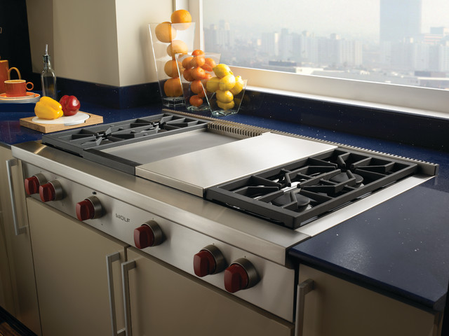 Wolf 48 Pro Style Gas Rangetop Stainless Steel Natural Srt484dg Contemporary