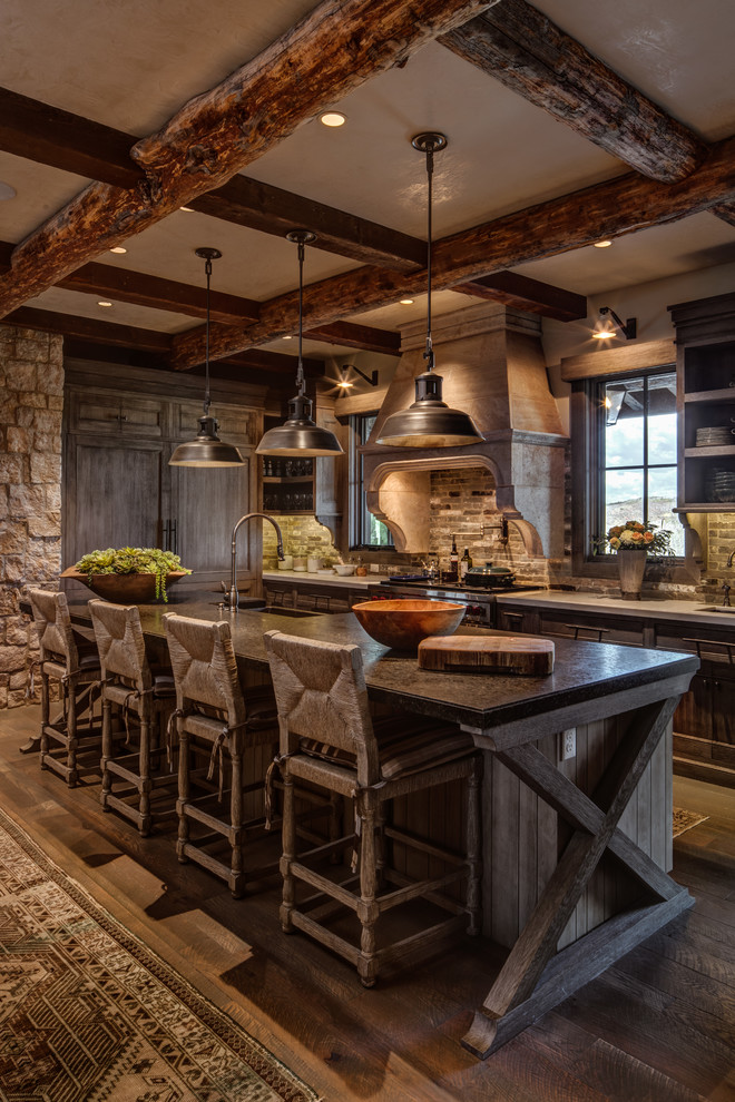 Wolf Creek Ranch Woodland Utah Residence Rustic Kitchen Salt Lake City By Think Architecture Inc