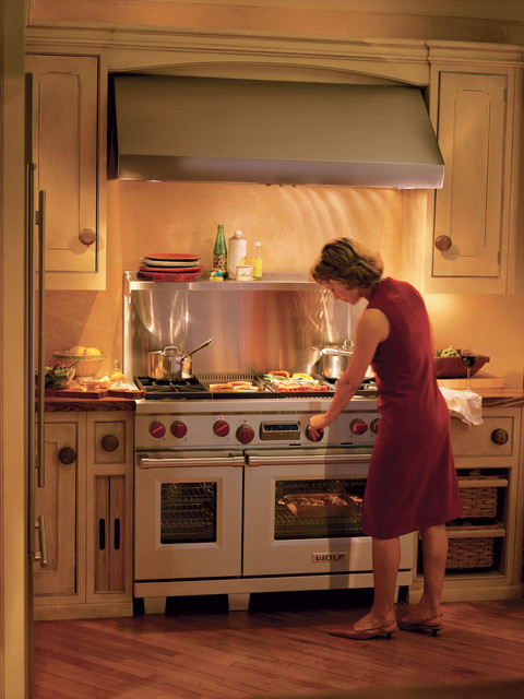"""Wolf Dual-Fuel 48"""" Range - Traditional - Kitchen - other ..."""