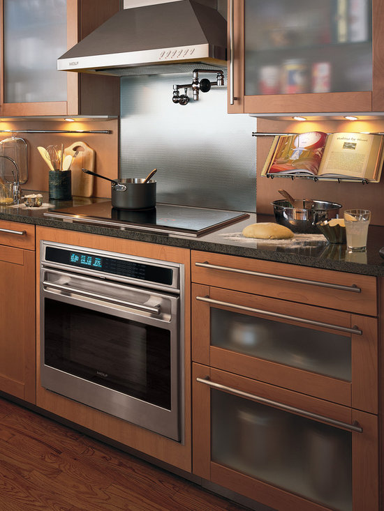 """Wolf L Series 30"""" Single Electric Wall Oven, Classic Stainless Unframed 