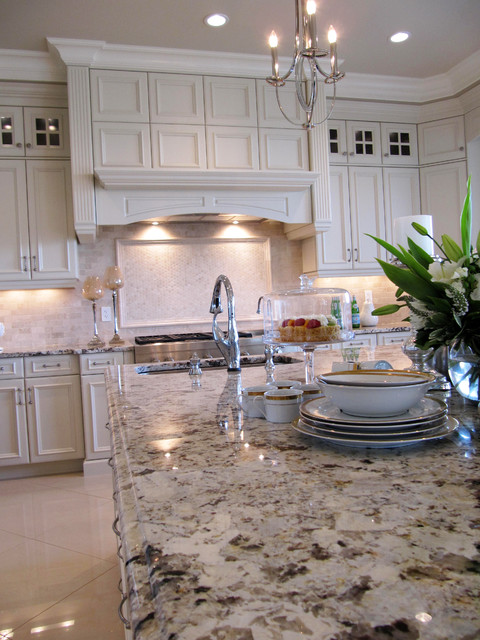 Wolf willow cream on cream luxury traditional kitchen for Kitchen cabinets 99 street edmonton