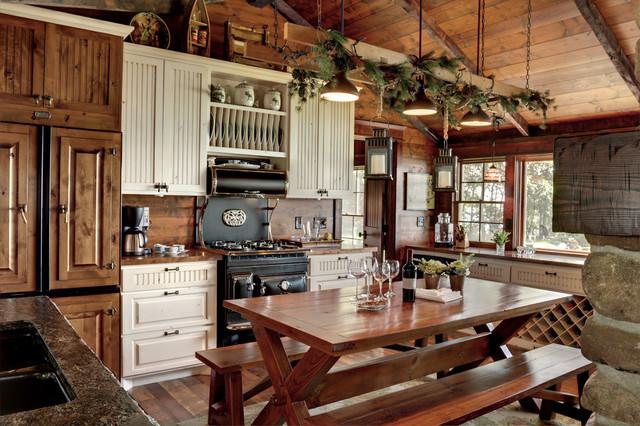 Woman Lake rustic-kitchen