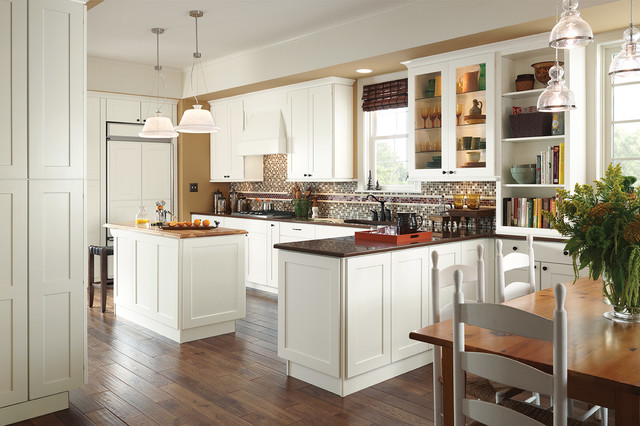 American Woodmark Cabinets Cabinetry Wonderfully In White Traditional Kitchen