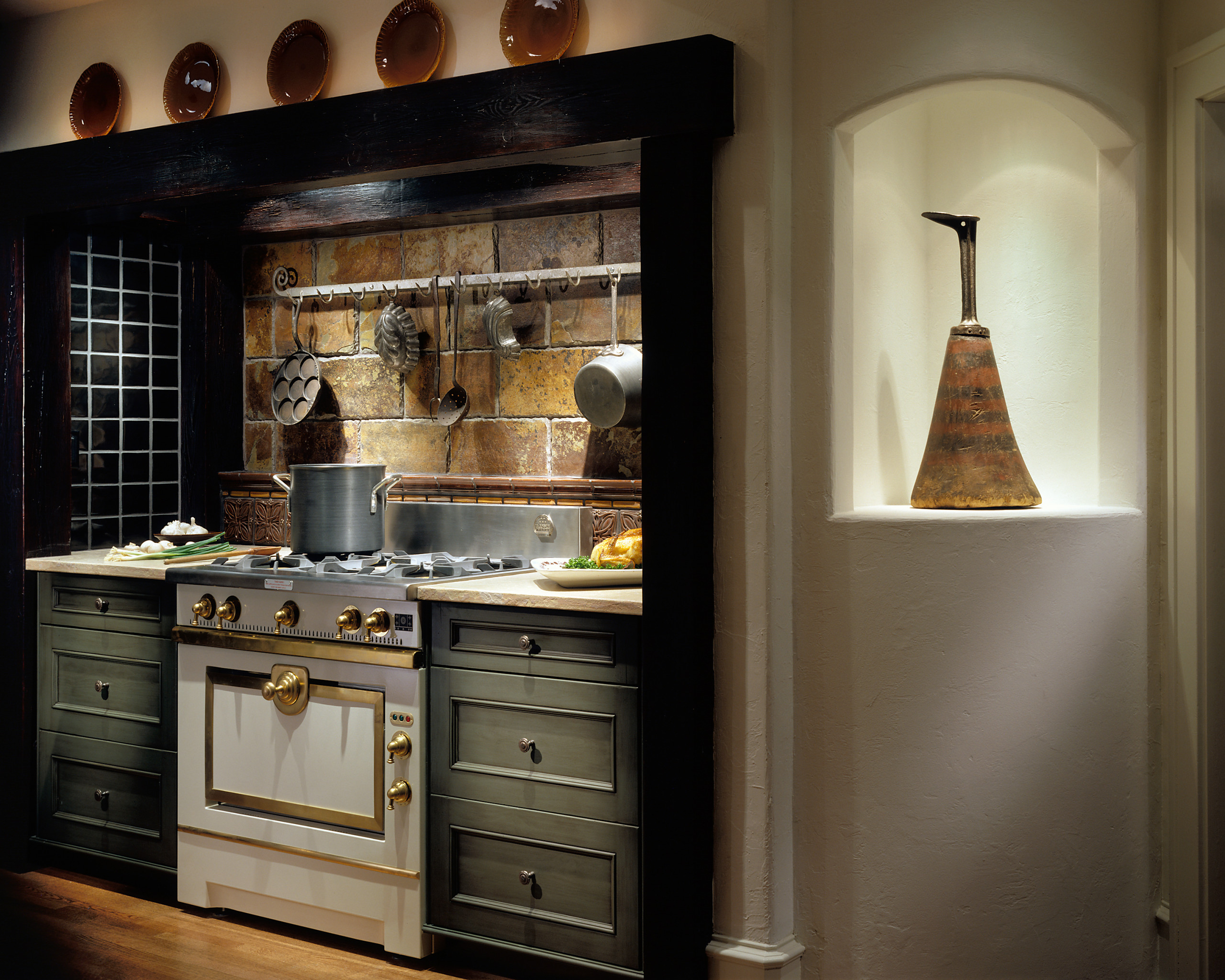 75 Beautiful Rustic Kitchen With Green Cabinets Pictures Ideas December 2020 Houzz