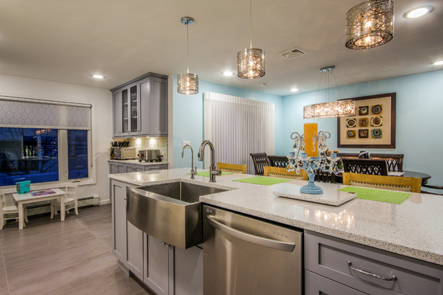 Wondrous In Woodmere Modern Kitchen New York By Alure Home Improvements