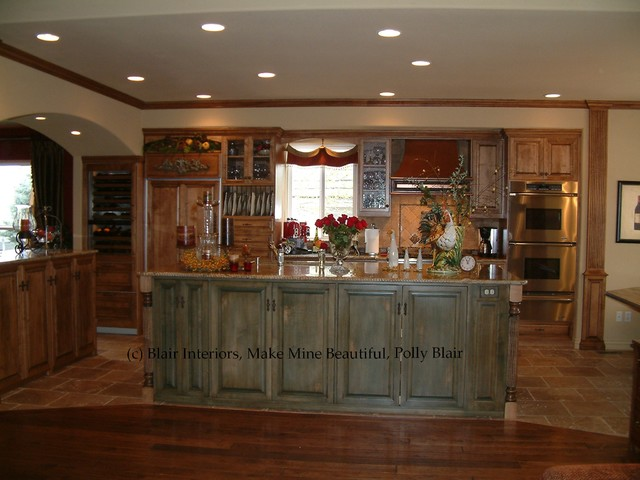 Wood and Color Kitchen traditional-kitchen