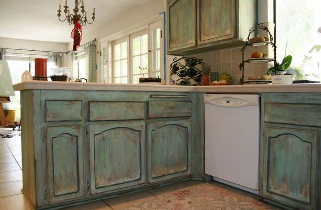 Wood & Furniture Finishes (Faux) - traditional - kitchen - orange