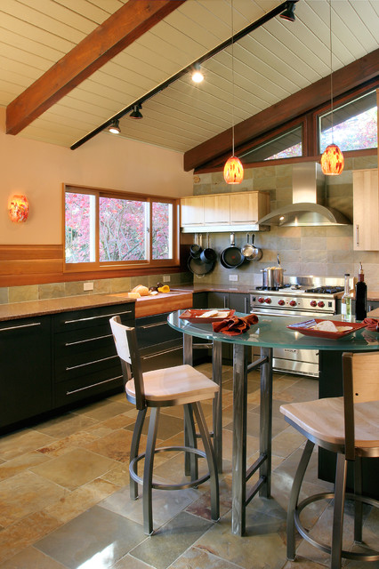 Wood Beam Kitchen Contemporary Kitchen Portland By