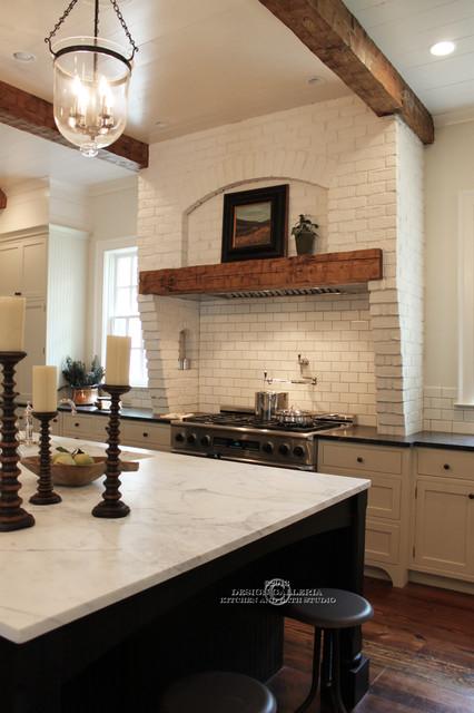 Wood Beams Traditional Kitchen Atlanta By Design