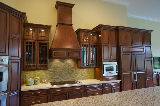 Wood Cabinets - Traditional - Kitchen - miami - by Allied Kitchen and ...