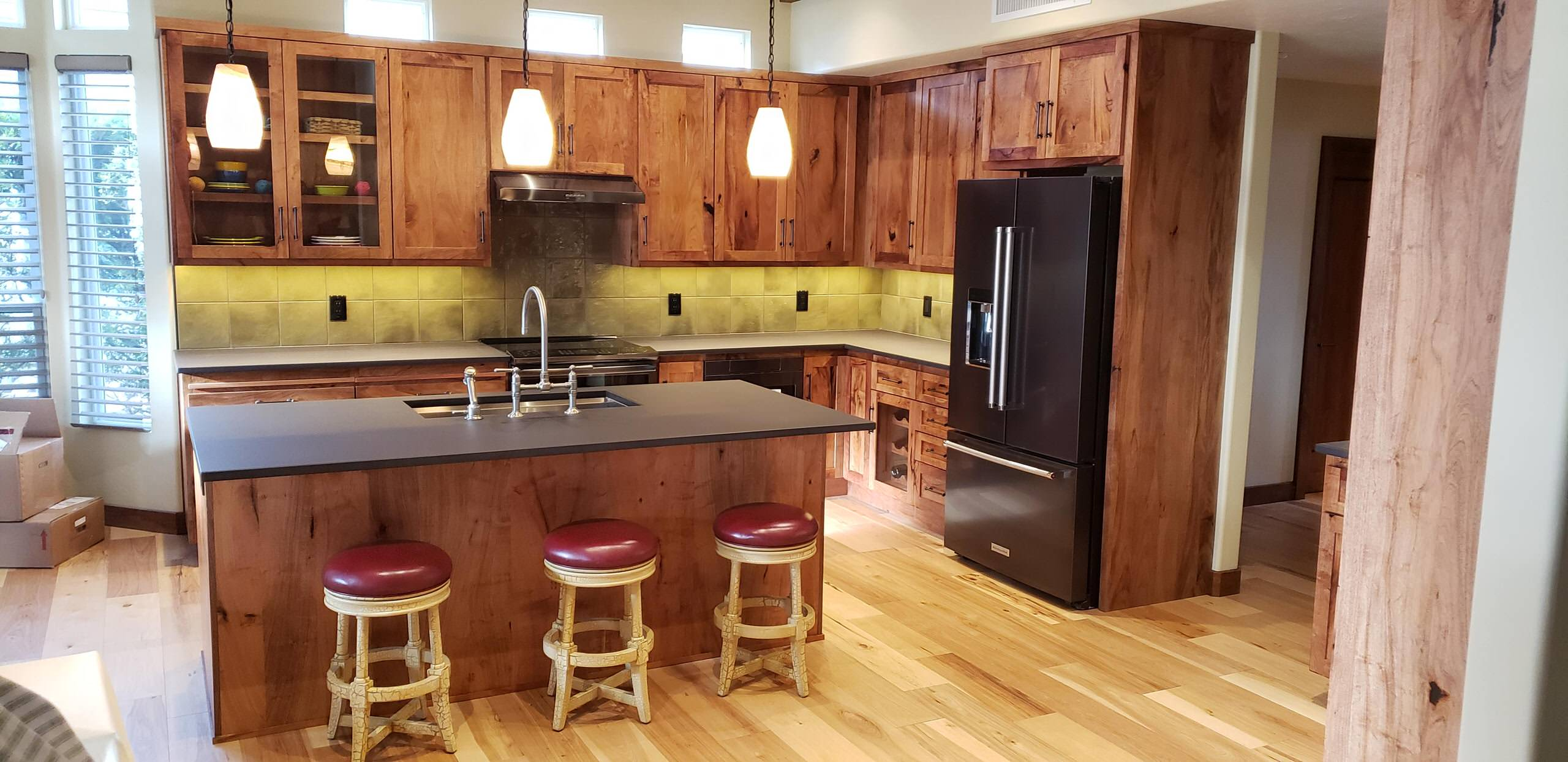 Wood Cabinets - Kitchen Remodel