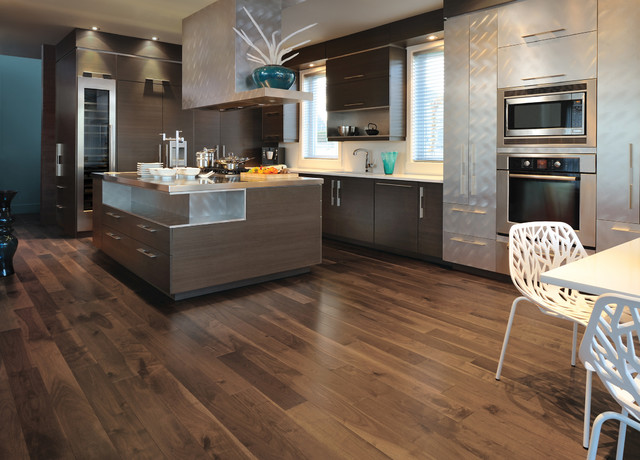 { WOOD FLOOR INSPIRATION } - Modern - Kitchen - Minneapolis - by Hometown Flooring, Kitchen & Bath