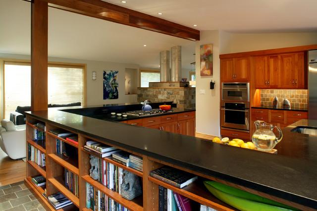 wood house modern-kitchen