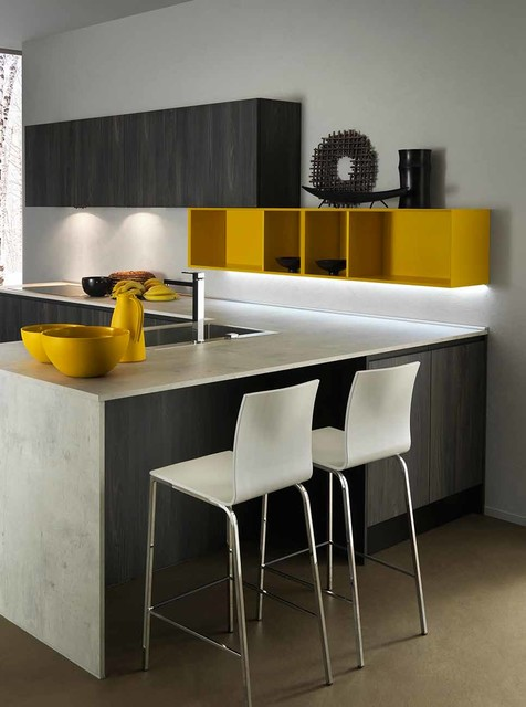 Wood Line Contemporary Kitchen Miami By Home Design Center Of Florida