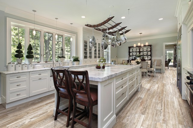 Wood Look Porcelain Tile for kitchen , entry , den , possibilities are  endless transitional-