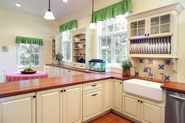 Wood N 39 White Mediterranean Kitchen Philadelphia By Cranbury Design Center Llc