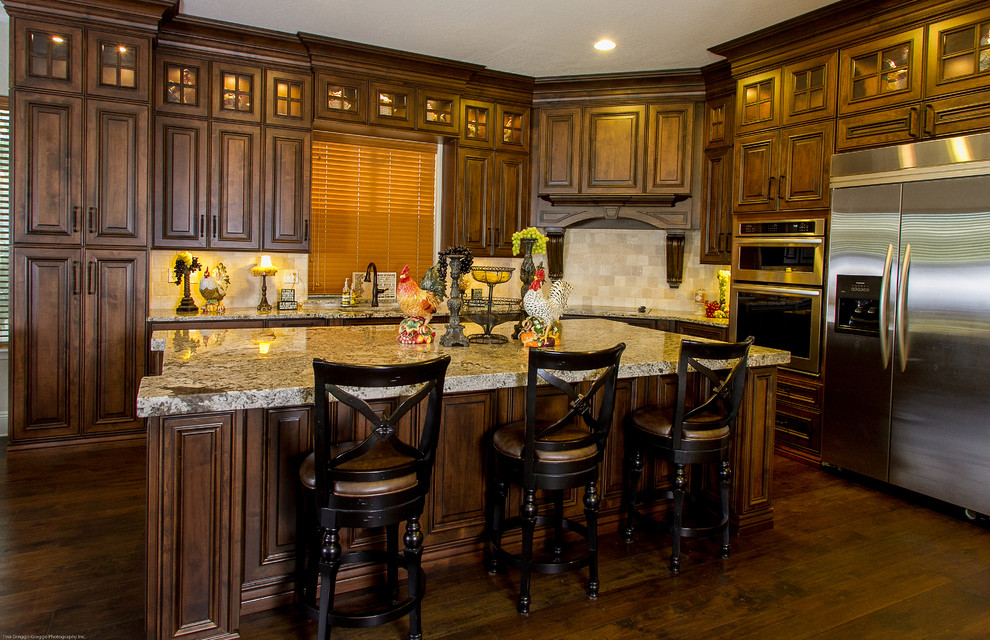 wood stained kitchen cabinets  anderson designer series