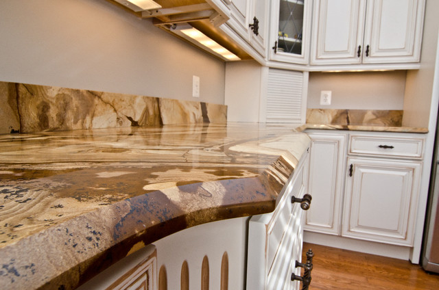 Wood Stone Granite Countertops Traditional Kitchen
