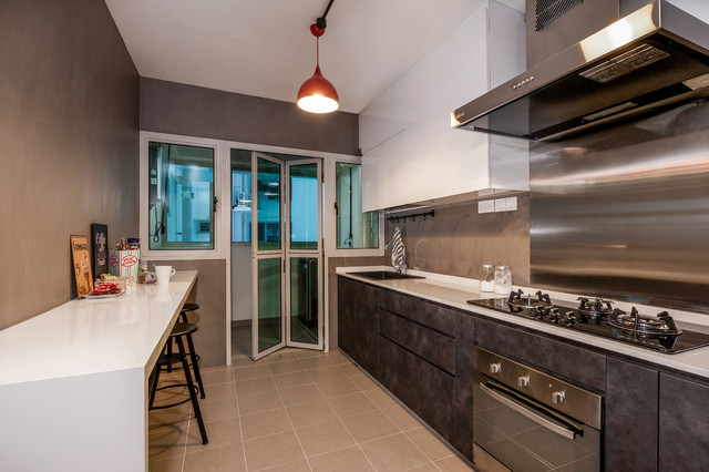 Bto Kitchen Design Ideas ~ Woodcress hdb bto contemporary kitchen singapore