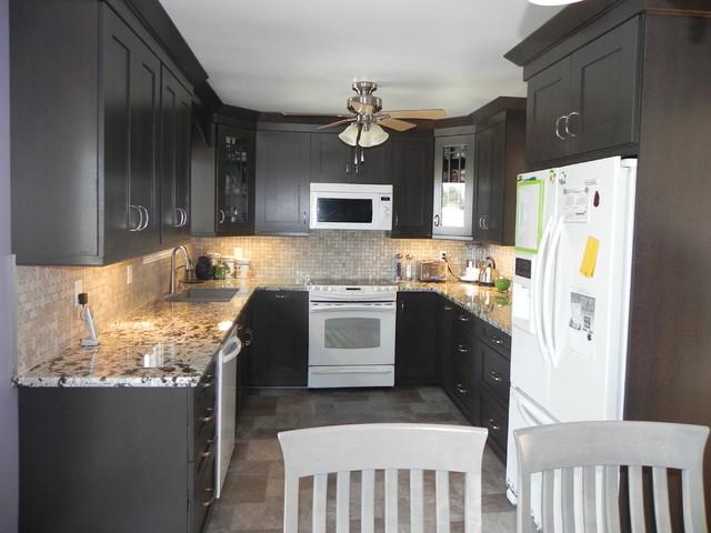 Woodcrest Rift Oak Thunder Cabinets Modern Kitchen Toronto By Alliston Home Hardware