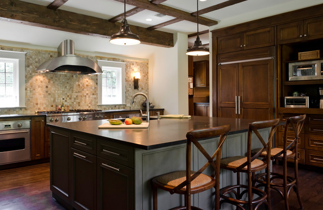 Wooden Beams Kitchen - Contemporary - Kitchen - other ...