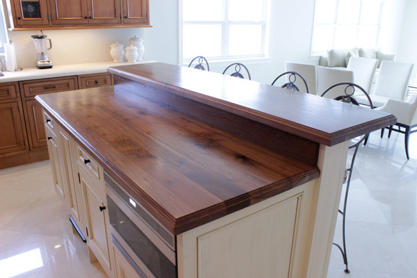 Wooden Kitchen Island Top   Traditional   Kitchen   Atlanta ...