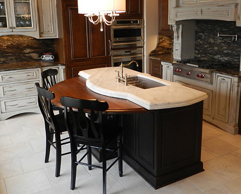 Wooden Kitchen Island Top Traditional Other