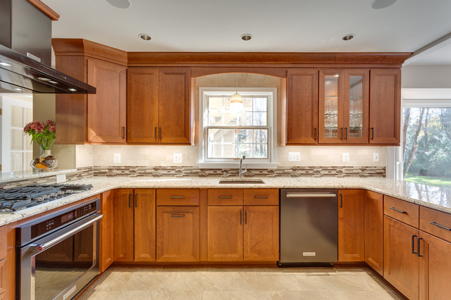 Woodharbor Provence Cherry Ginger Kitchen Cabinets By Reico Kitchen Bath Transitional