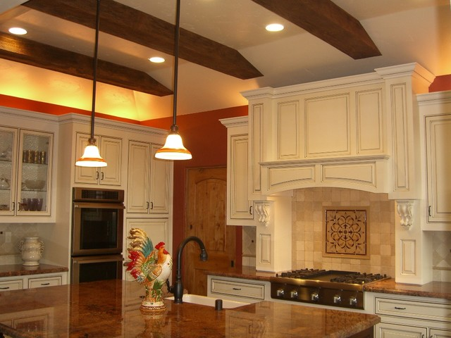 Woodland Tray Ceiling Kitchen - Traditional - Kitchen - other metro - by FauxWoodBeams