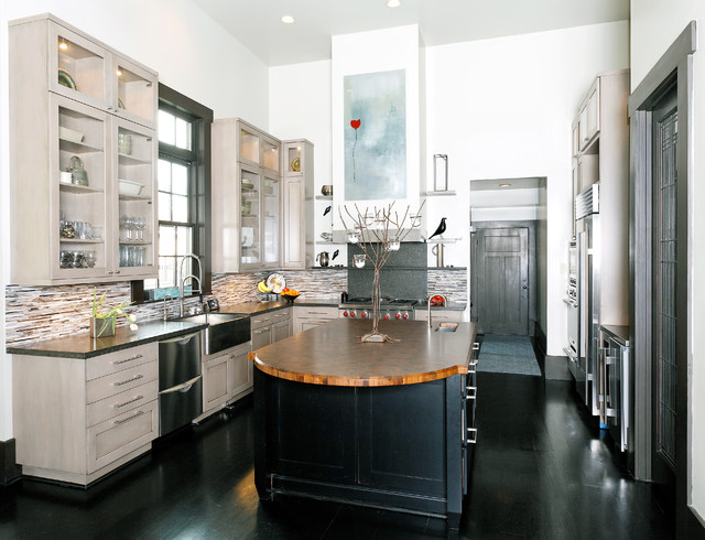 Woodlands Eclectic Kitchen - Transitional - Kitchen ...