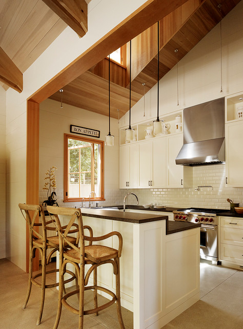 Woodside Residence Transitional Kitchen San
