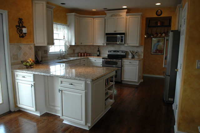 Woodvale Maple Square In Canvas With Coco Glaze By KraftMaid Cabinetry  traditional-kitchen