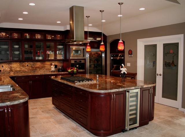 Woodward traditional kitchen san francisco by for Cherry bordeaux kitchen cabinets
