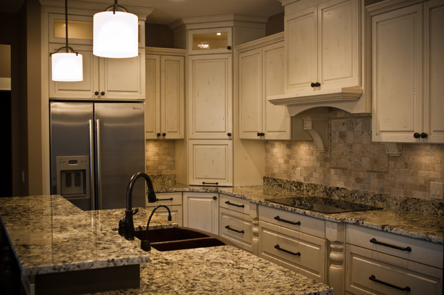 Worn and Distressed Kitchen traditional-kitchen