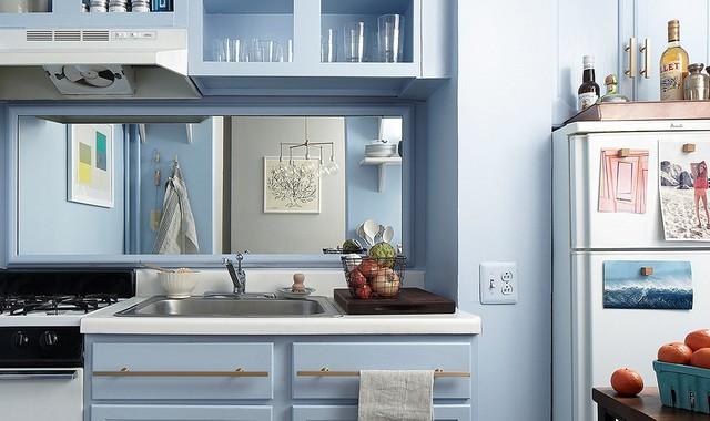 Wow: This Zero-Reno Kitchen Makeover Is Amazing masterovoy-kuhnya