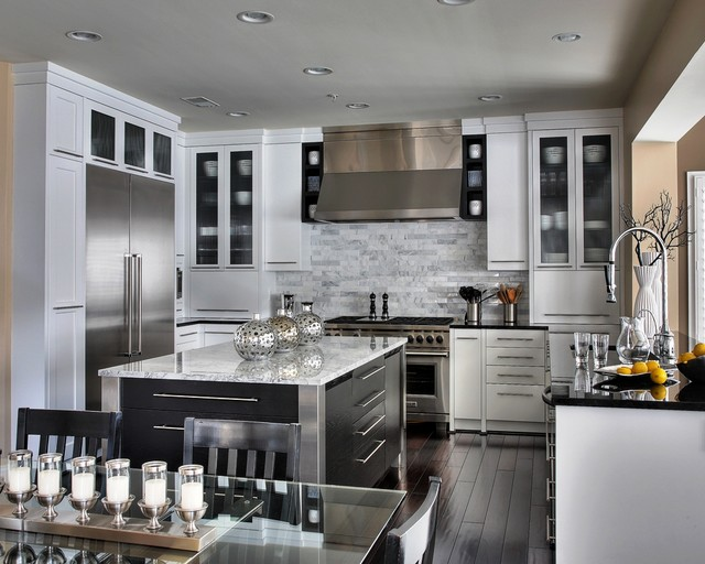 Wowwing Contemporary White Kitchen contemporary-kitchen